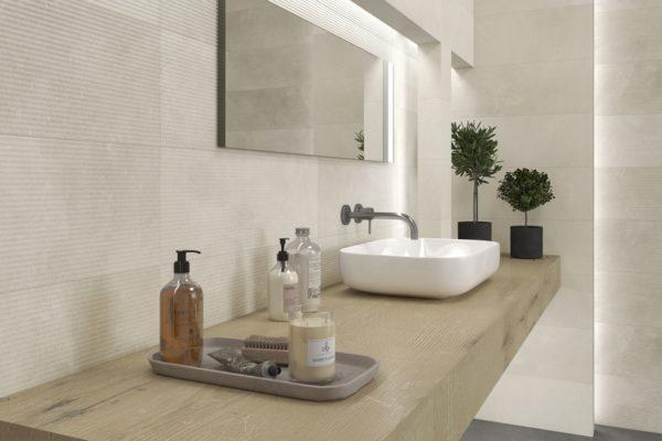 Powder concrete finish tiles