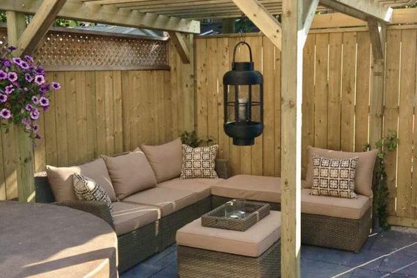 Small patio pergola