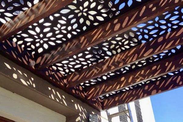 Floral roof pergola