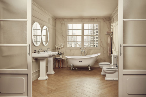 Roca carmen retro chrome bathtub