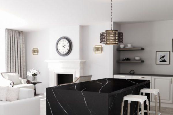 Eternal marquina silestone kitchen