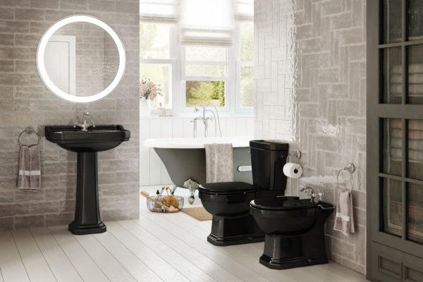 Black carmen roca washbasin