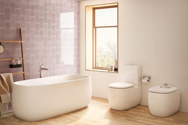 Roca pink beyond WC suites