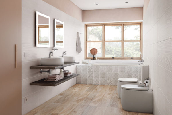 Roca beige ceramic washbasins