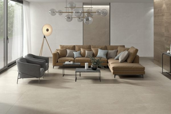 Storm earth white flooring