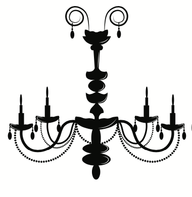 Black 4 candle wrought iron chandelier
