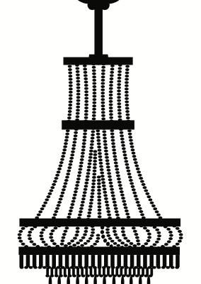 Vertical classic wrought iron chandelier design