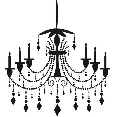 black 6 candle diamond hanging pendants chandelier