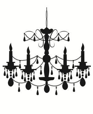 4 candle wrought iron chandelier