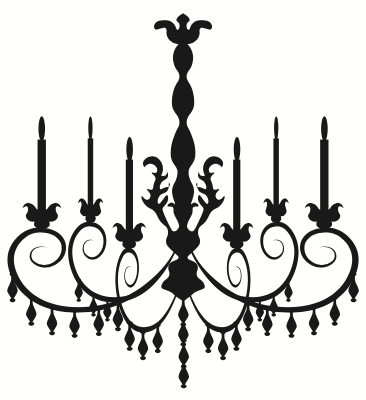 6 candle wrought iron light