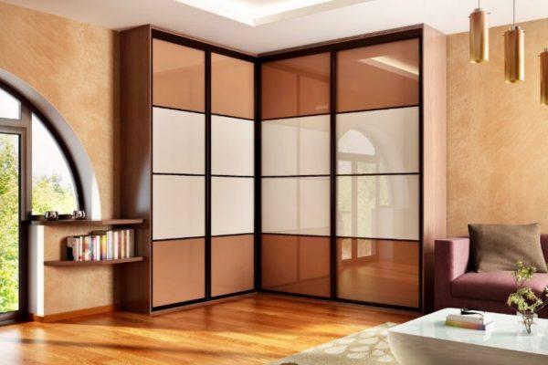 Opaque glass design sliding wardrobes