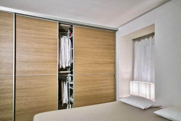 Brown sliding wardrobes