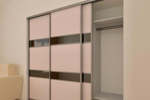 sliding wardrobe with mirror strip