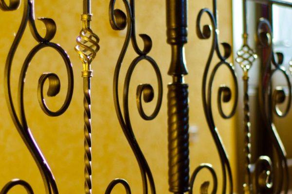 Spiral design black staircase