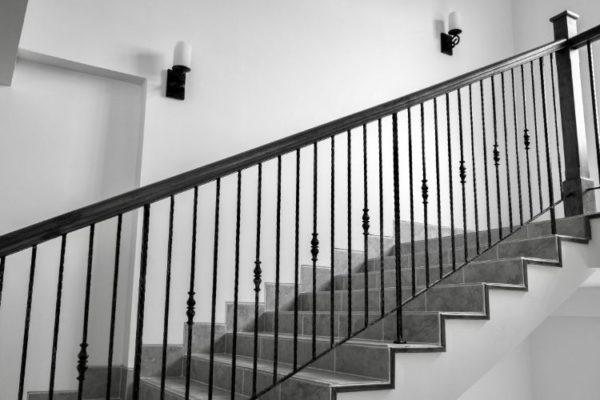 Black vertical staircase