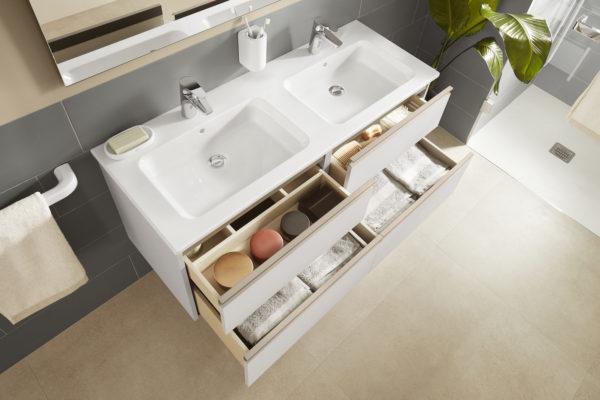 Roca the gap 4piece pack white washbasin