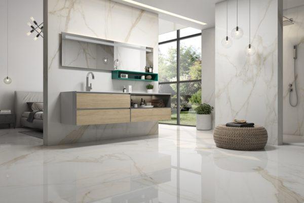 Tholos gold marble flooring