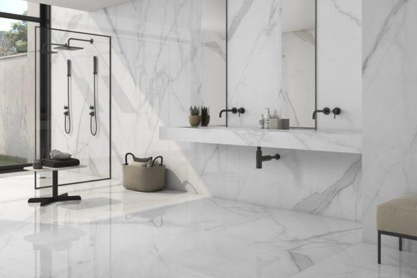 Tholos white polished marble