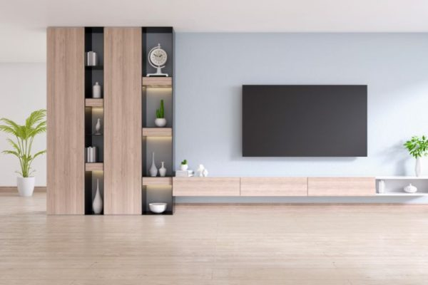 Tv unit on the wall