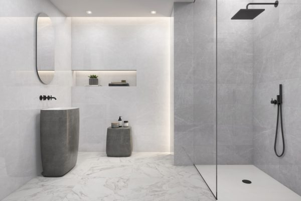 Victoria pearl grey marble flooring