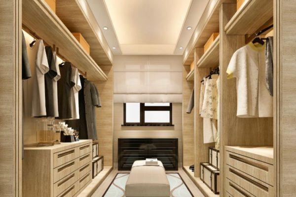 Elegant design walk-in closet