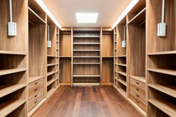 Spacious empty walk-in closet