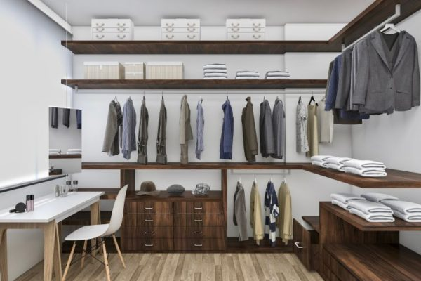 Open layout walk in closet