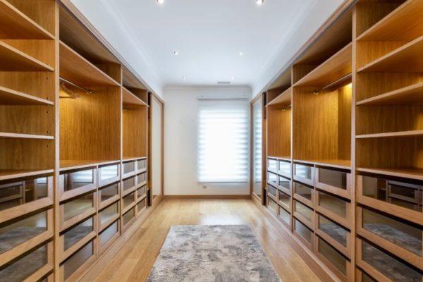 Walk-in wooden closet