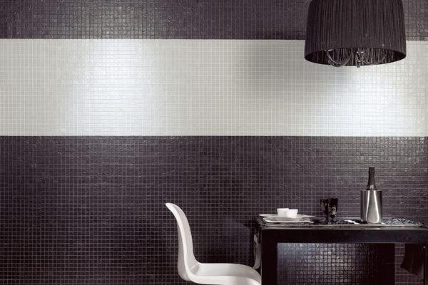 Black and white mosaic art