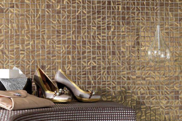 Mosaic decorative floral art