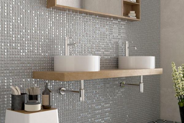 Aura white mosaic