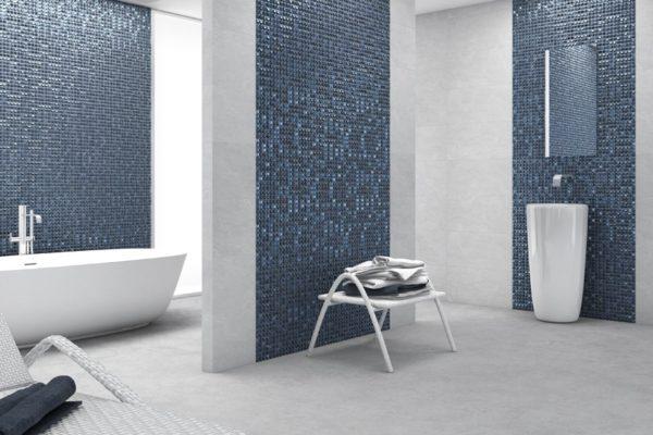 Aura dark blue mosaic art