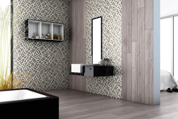 Aura classic blend mosaic bathroom art