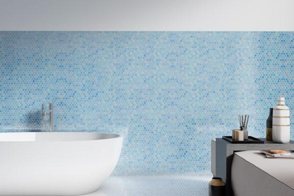 Dark-blue circle mosaic