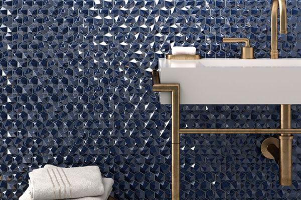 Diamond radiant mosaic art