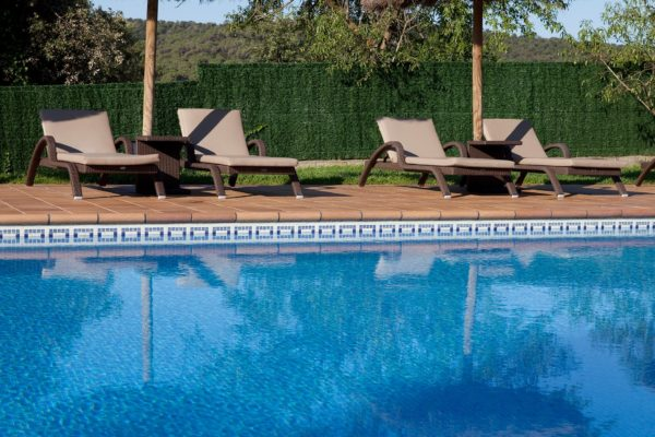 Swimming pool mosaic art borders