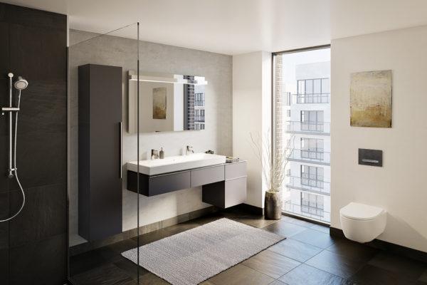Bathroom icon mustang slate floors