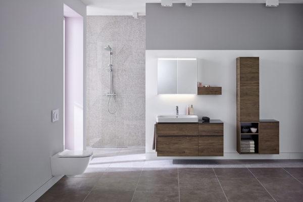 Geberit bathroom gray accessories