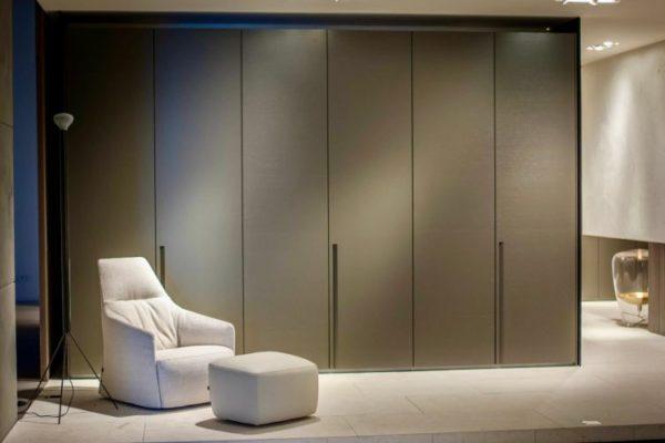 Gray elegant wardrobe