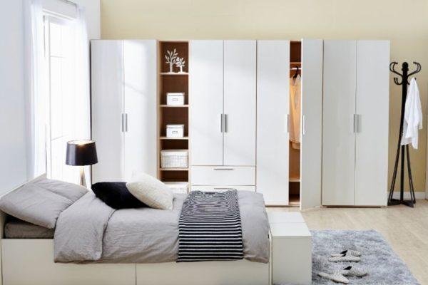 Double door white wardrobe