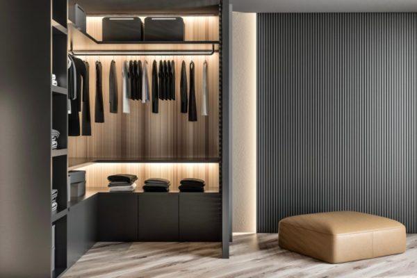Polished black wardrobes