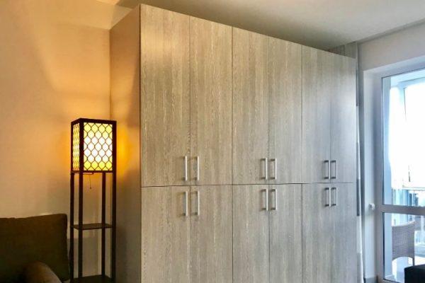 Gray double door wardrobe