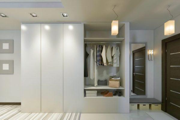 White neat wardrobe