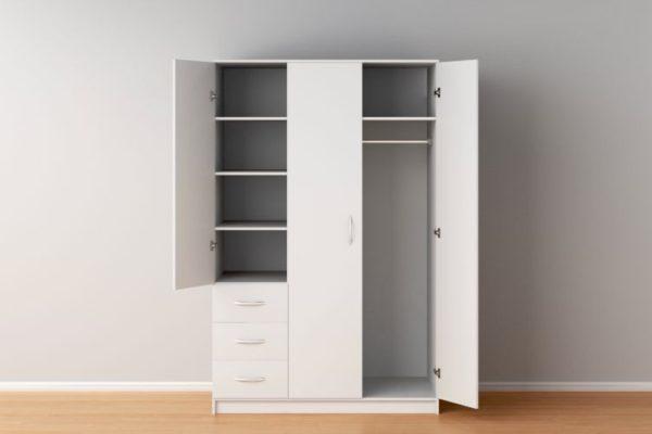 Pearl white wardrobe