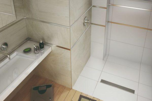 Detailed tile bath sink
