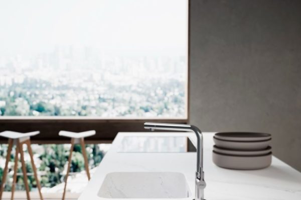 Neat kitchen top with sink