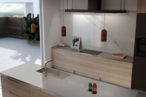 Polished brass sink kitchen top