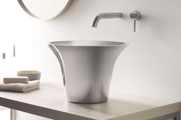 Topcounter aluminium wash basin