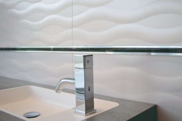 White sink and wall