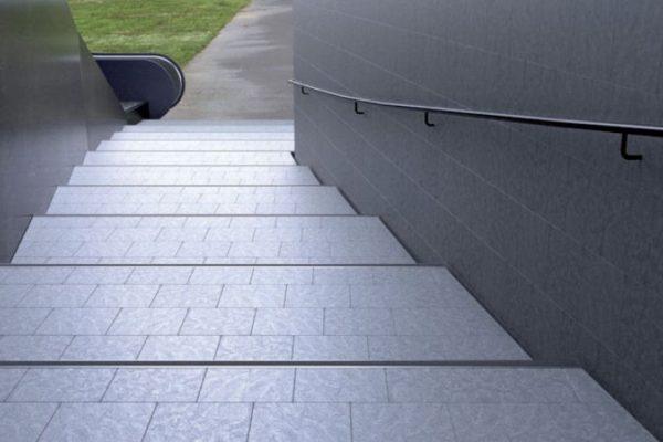 Tile edge strips horizontal stairs